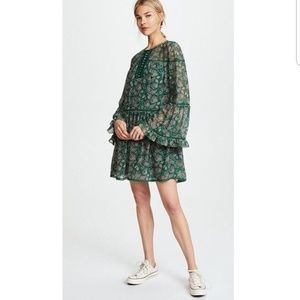 Rebecca Minkoff Green Printed Dress
